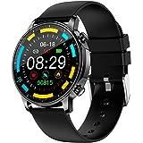 BINDEN Smartwatch V23 Pro Muestra Notificaciones, Monitor de Salud y Deportes, Compatible con iOS y Android - Negro