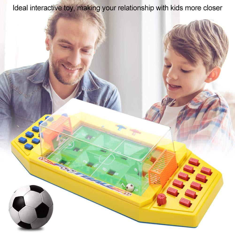 Interactive Desktop Mini Football Toy 2-Player Tabletop Soccer Games Early Educational Toy for Kids Children Green Zerodis Table Soccer Toy