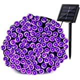 Qedertek Solar String Lights Outdoor, 200 LED 72 ft Waterproof Solar Fairy Lights for Wedding, Garden, Home, Patio, Porch, Lawn, Party and Holiday Decorations (Purple)
