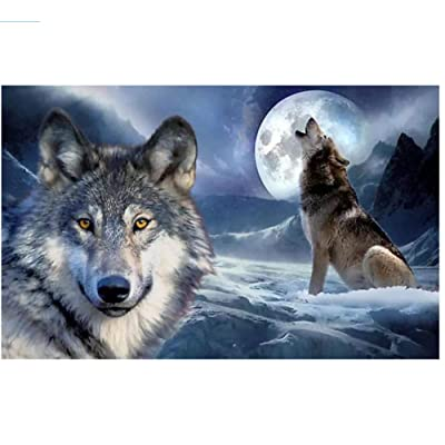 Moon Animal Wolf Howling Jigsaw Puzzle 200 Pieces for Adults Children Puzzle DIY Gifts Indoor Toys Game Difficulty Fun Relax: Home & Kitchen [5Bkhe1804701]