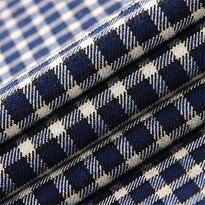 Mistere Slim New Casual Men Grid Shirt Men's Brand Long Sleeve stand collar big man Plaid Shirt Dress Shirts for man Cool
