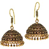 Jaipur Mart Jhumki Earrings for Women (Golden)(GSE490GLD)