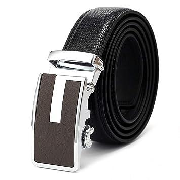 GOVVZ Cinturones Hombres Cinturones Cuero Cinturones De ...