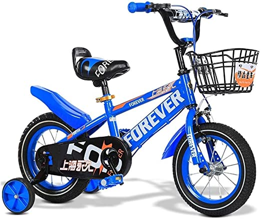 DYFYMXBicicleta niño Bicicleta de Pedal Bicicleta for niños Freestyle Boys Girls Bike 12