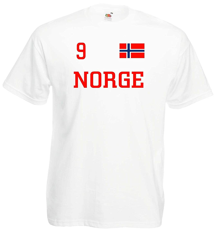 world-of-shirt Herren T-Shirt Norwegen Norway im Trikot Look