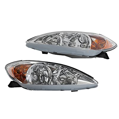 2PC Driver & Passenger Headlights Headlamps Set Replacement fit for 2002 2003 2004 Toyota Camry: Automotive