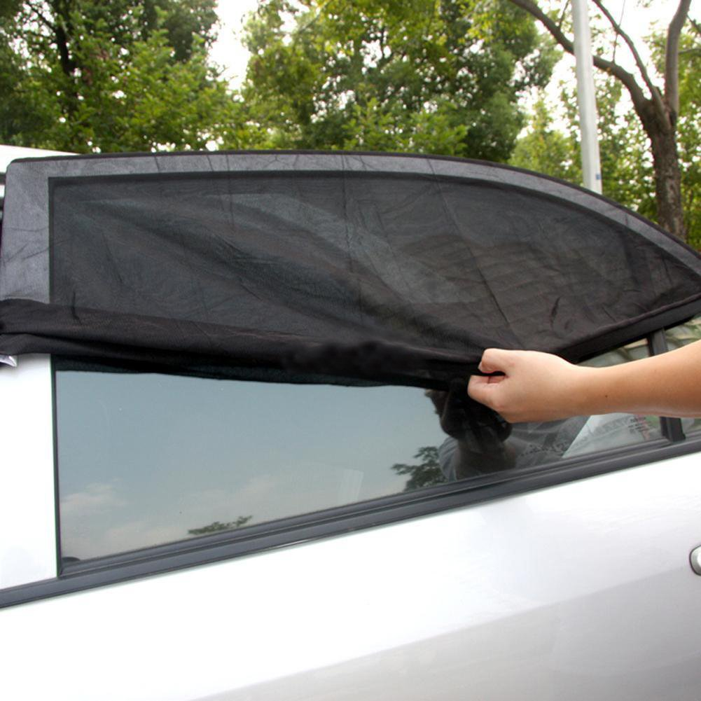 1.De.De. Car Window Sunshade Sunshade Net Car Rear Side Window Sun Covers for Baby 1 Pair Black XL
