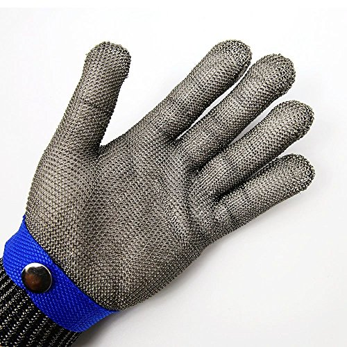 Safety Cut Proof Stab Resistant Stainless Steel Metal Mesh Butcher Glove Size XL High Performance Level 5 Protection - Metal Mesh Glove