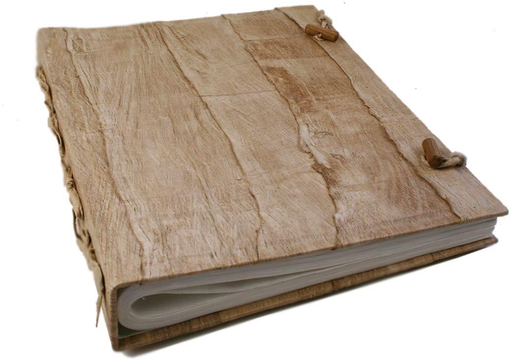 Life Arts Bark Fotoalbum handgefertigt Weiß Large, klassisch Seiten (35cm x 30cm x 7cm)