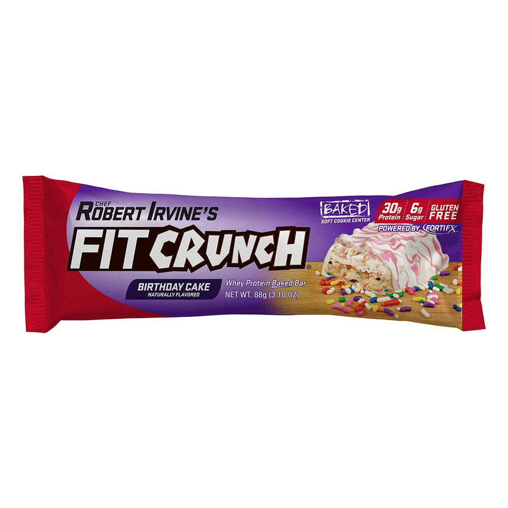 Fit Crunch Bar - Whey Protein Bar Cookies & Cream 12 bars by CHEF ROBERT IRVINE FORTIFX: Amazon.es: Alimentación y bebidas