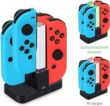 Diyife Base de Carga para Switch, 4 en 1 Cargador del Controlador para Nintendo Switch, Estación de Carga de Controlador con Puerto USB-C, Indicador LED: Amazon.es: Bricolaje y herramientas