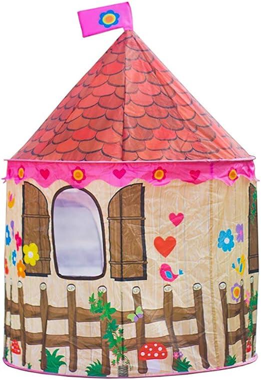 Tienda De Campaña para Niños Al Aire Libre, Casa De Juguete De Casa De Princesa Príncipe De Dibujos Animados Casa De Juguete,B: Amazon.es: Jardín