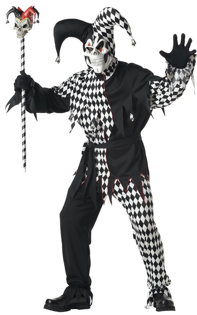 Disfraz De Bufón Malvado/Joker Blanco Negro Vestido Para ...