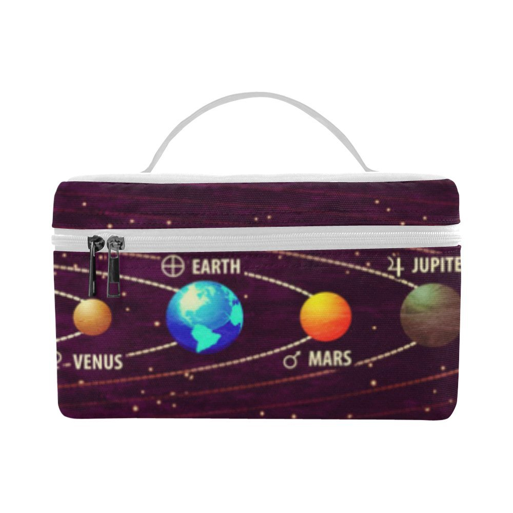 Artsadd Outer Space Galaxy Solar System Insulated Lunch Bag Reusable Lunch Box