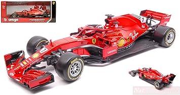 Burago BU36809R Ferrari SF71H K.Raikkonen 2018 N.7 1:43 MODELLINO Die Cast Model Compatible con