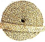 Bonka Bird Toys 20ft Natural Seagrass Braided Rope Foraging Bird craft Toy Part Chew strips for parrots, Chinchillas, Rats, Mice & Guinea Pigs, DIY Home Decor.