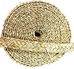Bonka Bird Toys 20ft Seagrass Braided Rope Bird Toy Parrot Shreddable Craft Part Natural Cage
