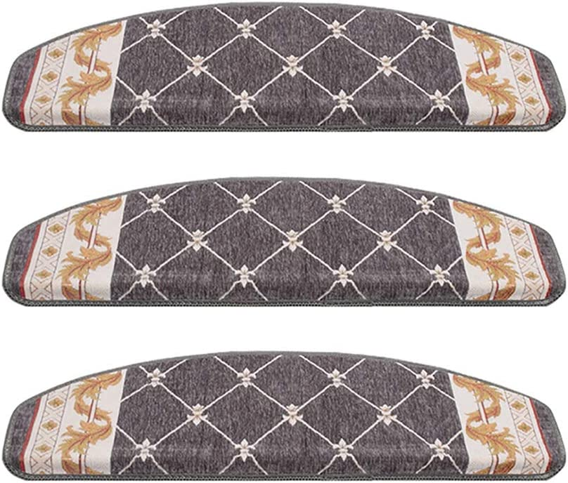 GJX-Treppenmatte HJH- 5 Set,Treppenmatte,Treppenstufe umweltfreundlich rutschfest keine Kleberrest Kleber versagt nicht nach dem Waschen langlebig Treppenpolster Chenille Polyesterfasermaterial