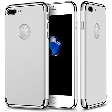 GoldKart *3 in 1 Dual Layer Thin Back Cover Case For Apple iPhone 7 Plus  Silver  Cases   Covers
