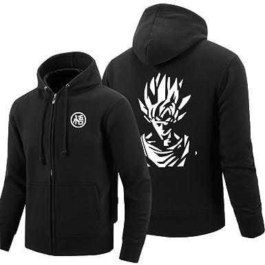 Hoodies & Sweatshirts New Dragon Ball Animate Mens Printing Pattern Zipper Hoodies Jacket Super Saiyan Goku