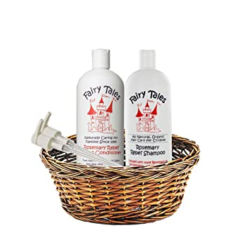 FAIRY TALES Rosemary Repel Shampoo and Conditioner Liter Duo w/ Bottle Pump (2 Pack