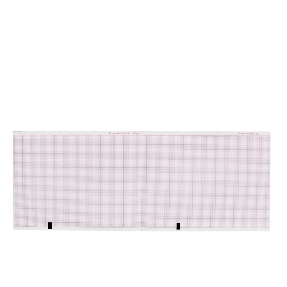 ECG EKG Paper Mortara ELI 150 Machine Compatible Thermal Recording Sheets 5 Packs