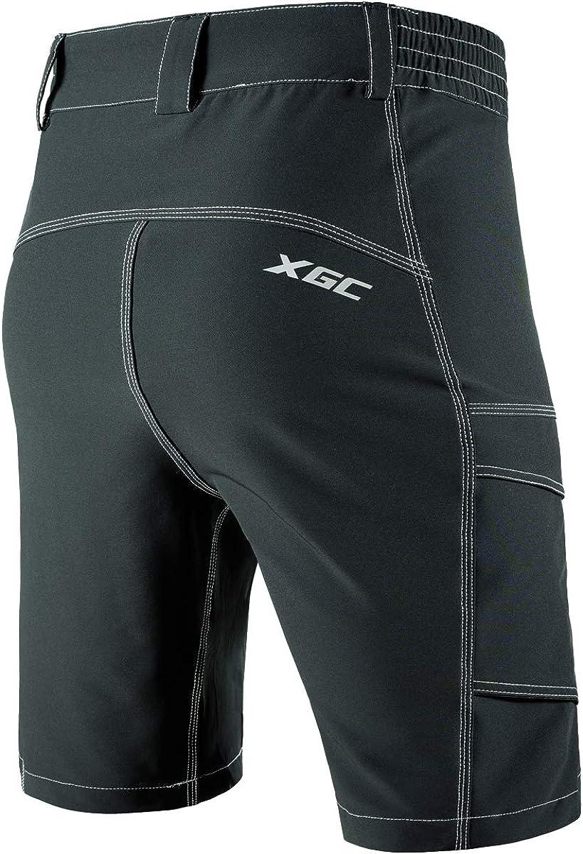 XGC Herren Fahrrad-Shorts Fahrrad MTB Mountainbike Shorts Loose Fit Radfahren Baggy Cycle Hose