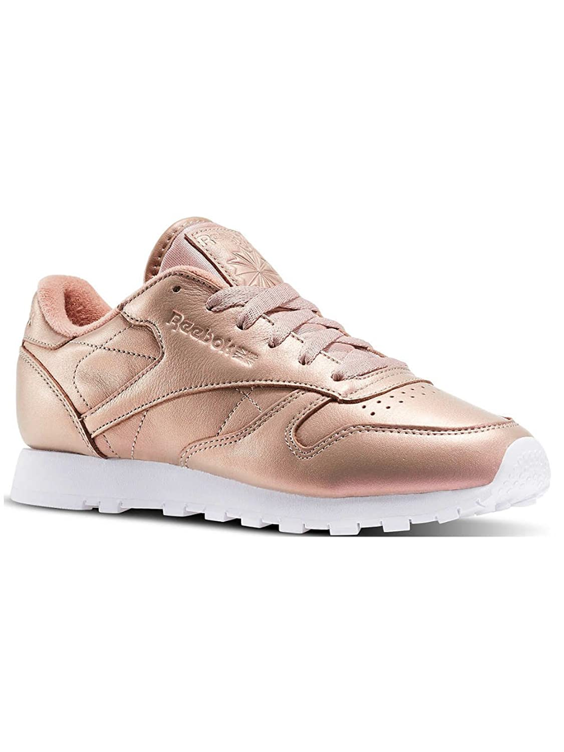 Amazon.com: Reebok Classic Leather Pearlized Womens Sneakers Pink: Clothing