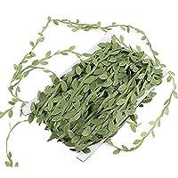 FTVOGUE - Guirnalda de hojas artificiales para decoración de boda, decoración para el hogar