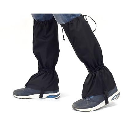 Crayfomo jambe Guêtres pour femme et homme, Legging Guêtres pour randonnée Marche escalade Chasse étanche coupe-vent Snow Proof respirant jambe Guard-black