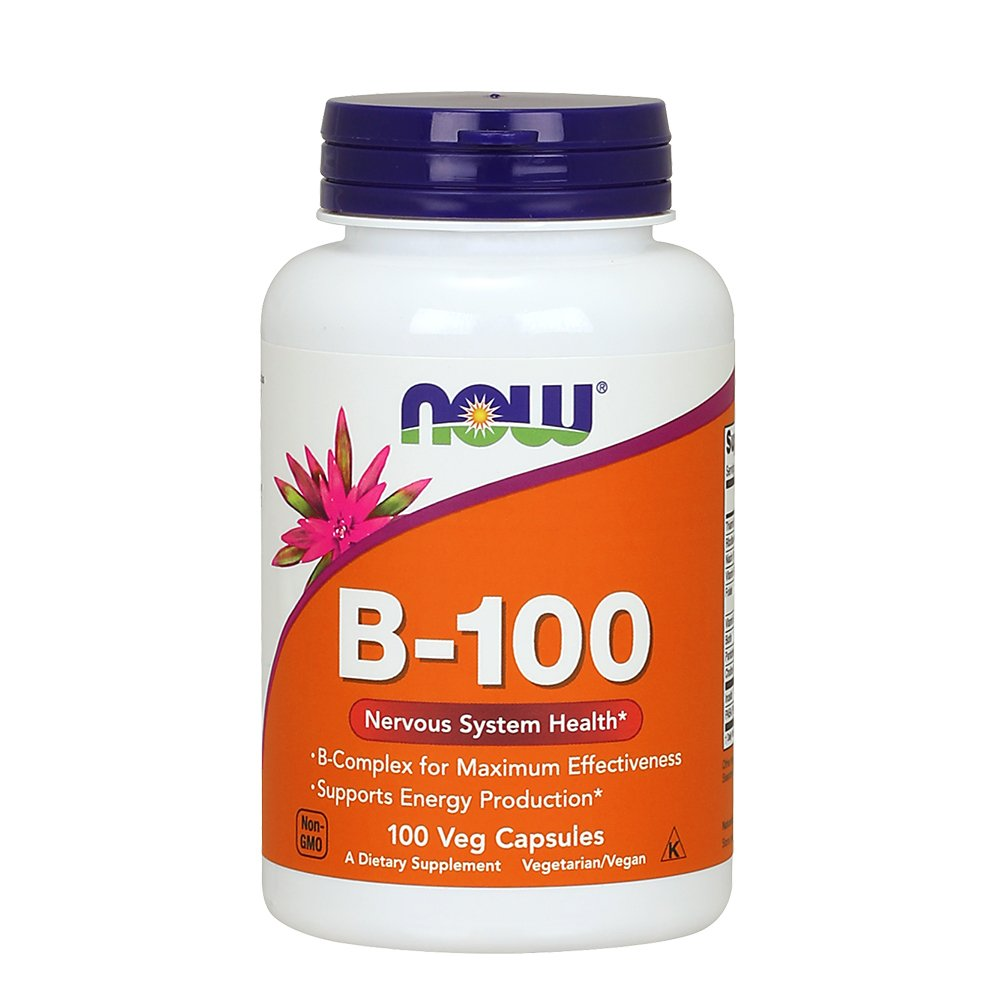 NOW Vitamin B 100 100 Capsules Image 1