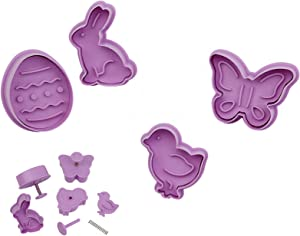 Easter Food Grade Plastic Cookie Mold Eggs Animal Biscuit Cutter 3D Cartoon Rabbit Molds Baking Tools Party Cupcake DIY Supplies