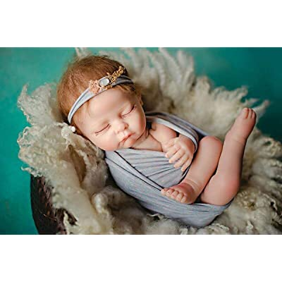 TERABITHIA 52cm Realistic Naked Photography Training Reborn Baby Doll Props Posing Posture Training Weighted Cloth Body Newborn Dolls, 20 inch: Toys & Games