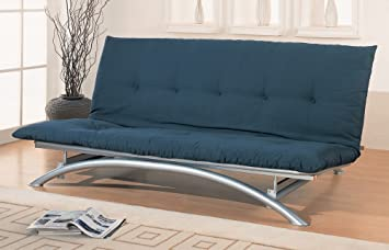 coaster metal futon frame silver finish