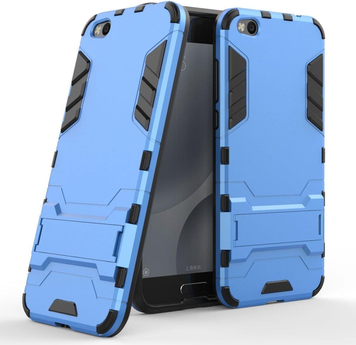 Funda para Xiaomi Mi 5C (5,15 Pulgadas) 2 en 1 Híbrida Rugged Armor Case Choque Absorción Protección Dual Layer Bumper Carcasa con Pata de Cabra (Azul): Amazon.es: Hogar