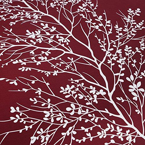 Burgundy Vaulia Lightweight Microfiber Duvet Cover Set Printed Pattern Design