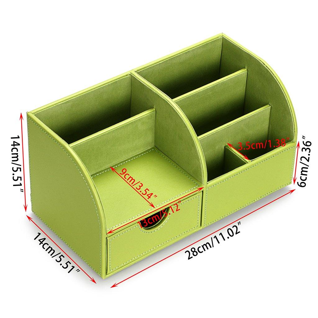 Btsky ufficio multi-funzionale PU organizer Tidy Business della penna del telefono mobile di telecomando Holder Storage box Blue
