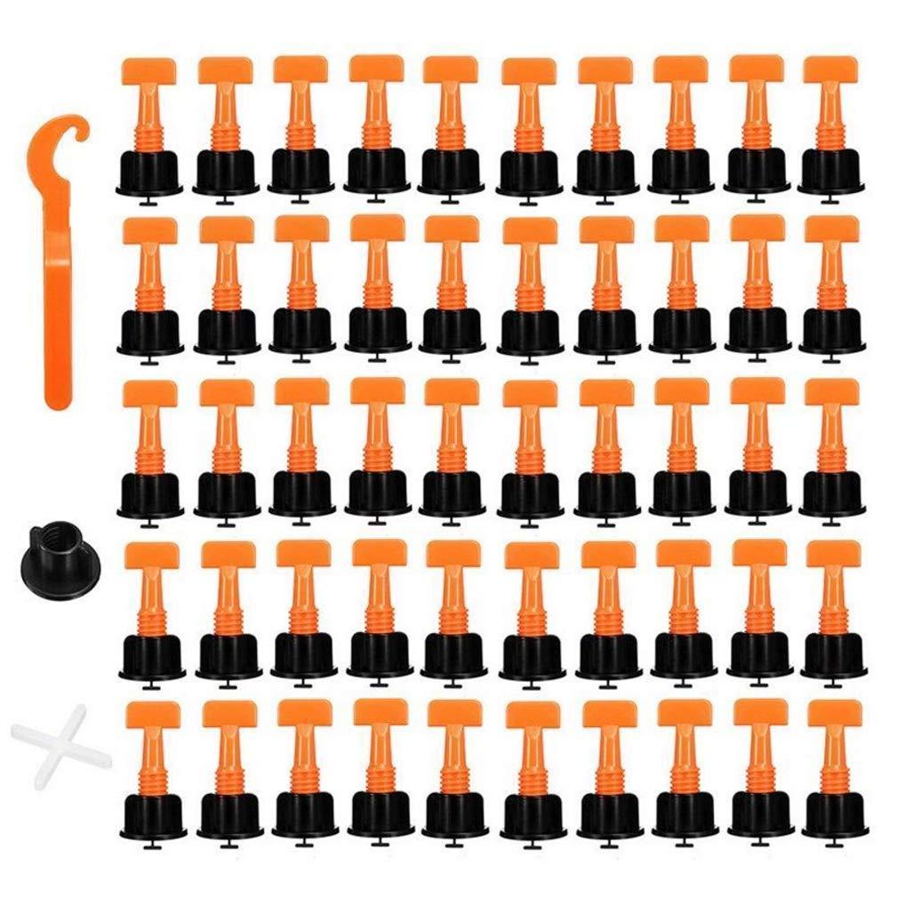 1 Set 50 St/ück Carrelage Fliesen Nivellierer Wiederverwendbare Anti-Lippage Fliesen Nivellierung