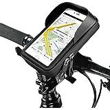 Bike Handlebar Bag,Topist Waterproof Bike Bag/Bike Pouch/Bike Frame Bag/ Top Tube Touch Bag /Bike Bicycle Phone Mount Holder for Smart Phone Below 6 inch