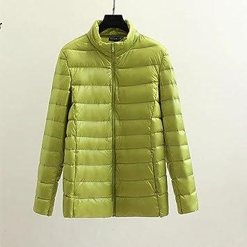 ZQQ Invierno ropa magra y gorda XL puro ganso blanco de las mujeres abajo chaqueta abrigo , 2xl , light green: Amazon.es: Deportes y aire libre