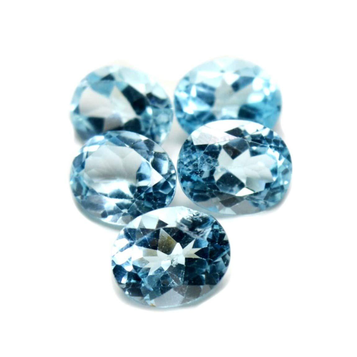 1 Stück Blautopas sky blue 9x7 mm oval facettiert