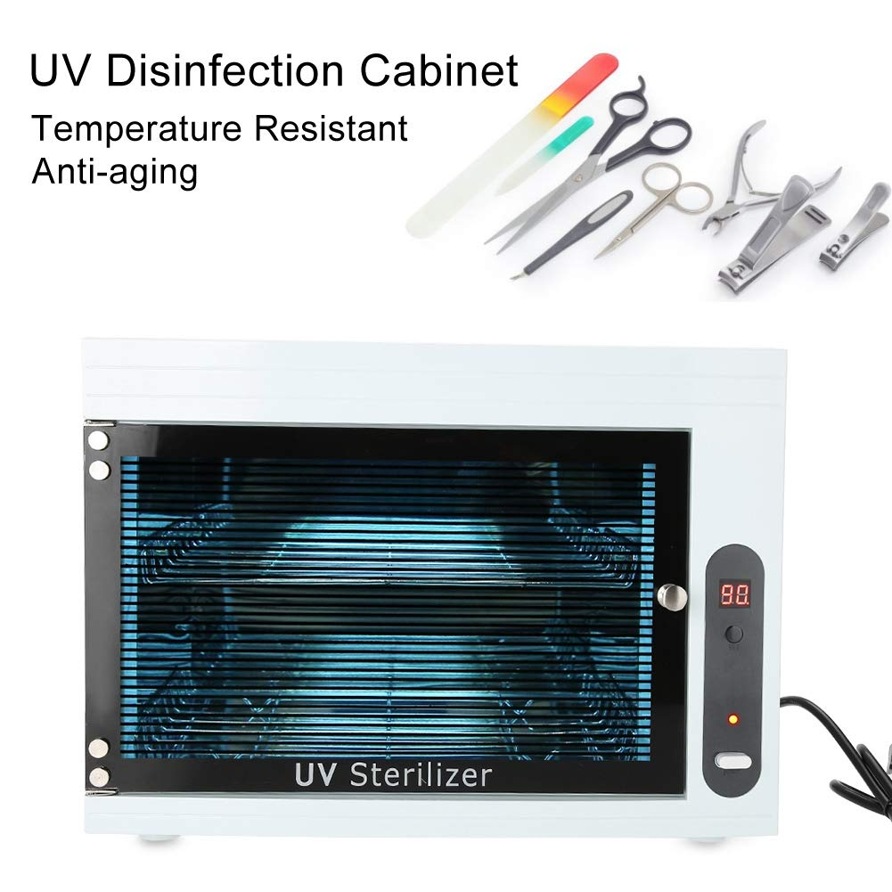High Temperature 220V Sterilizer Manicure Tools UV Disinfection Box Storage Case Organizer Cabinet Scissors Towel Nail Tools Sterilizer Equipment for Beauty Nail Metal Tools, FDA certification (US) by Salmue (Image #5)