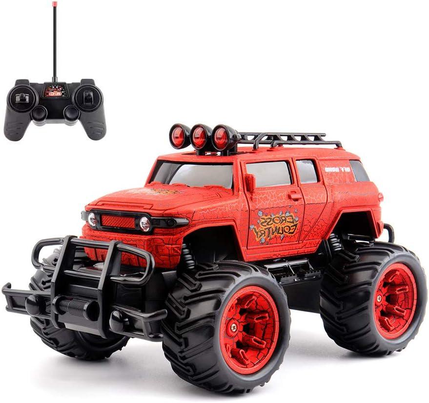 RCTecnic Coche Teledirigido Rc Safari Cross Country Truck 1:20 2WD | Coche Radiocontrol Todoterreno a Bateria con Mando Control Remoto | Juguete Regalo para Niños, Rojo
