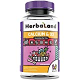 Herbaland 儿童高钙+磷+维生素D3软糖无糖软糖90粒/瓶 加拿大原装进口 天然 果胶 骨骼发育 促进钙吸收 (包邮包税)