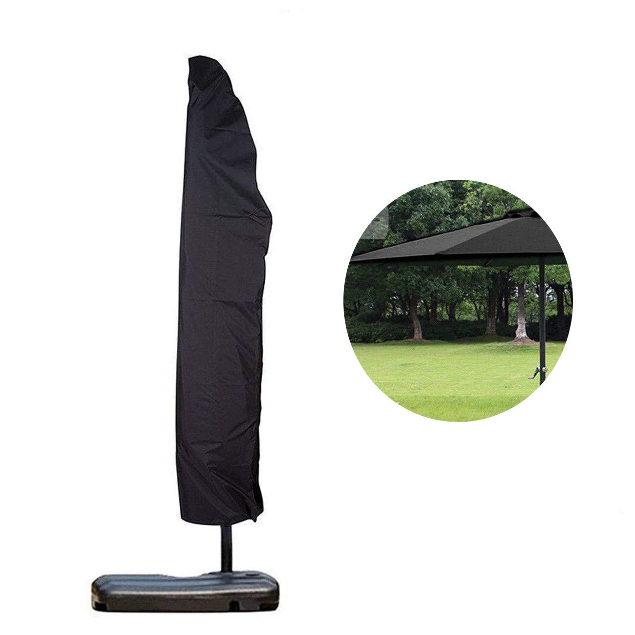 NBRTT Outdoor Waterproof Patio Umbrella with Zipper, Polyester Canopy, Rain Cover, Protective Parasol, Sun Bag