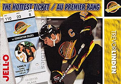 (CI) Trevor Linden Hockey Card 1995-96 Kraft Jell-O Hottest Tickets 10 Trevor Linden - Hottest Ticket