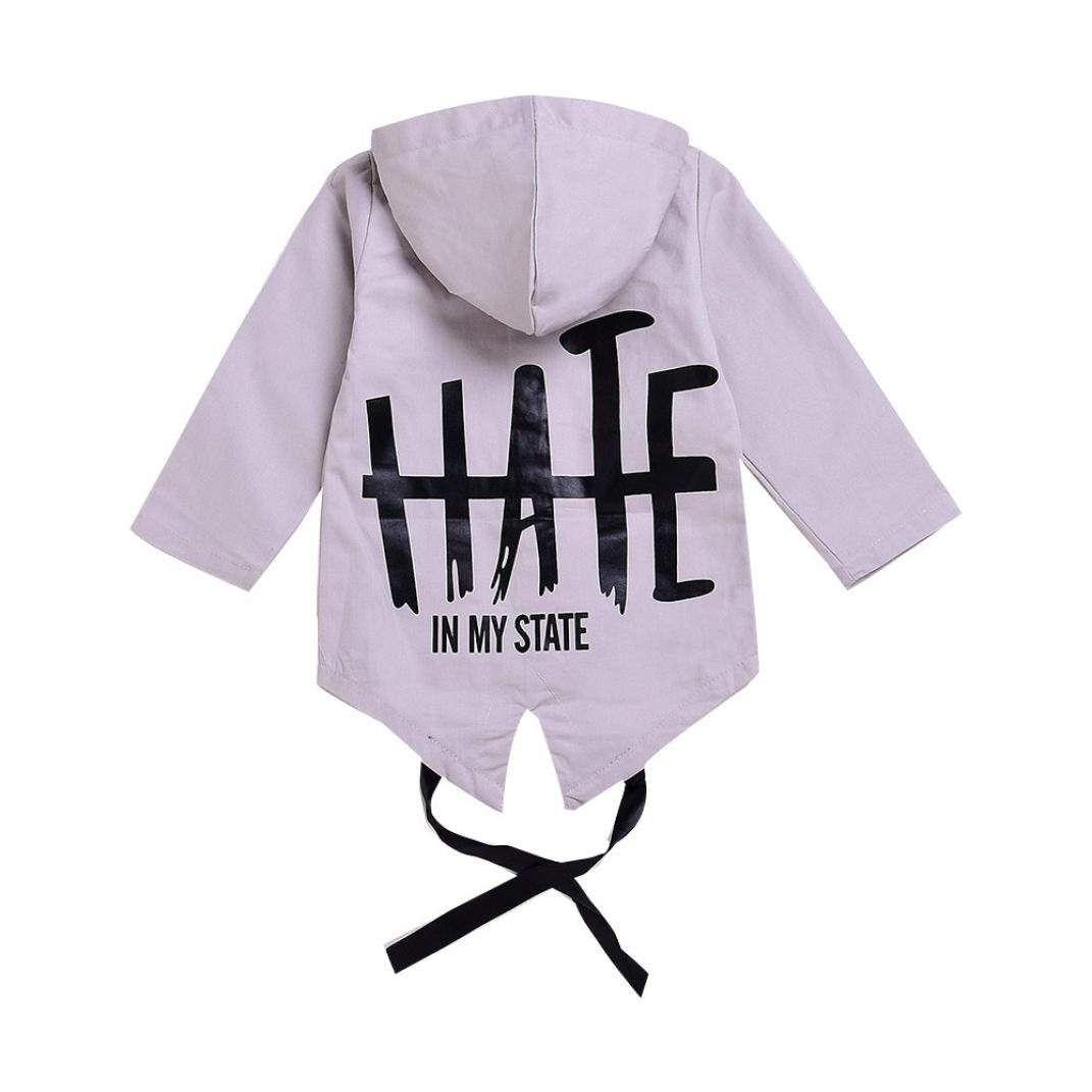 FORESTIME Newborn Cute Infant Baby Boy Girl Hooded Letter Jacket Hoodies Coat Outwear Clothes
