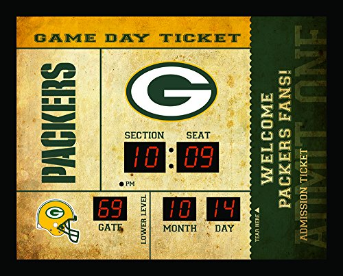 Team Sports America Green Bay Packers Bluetooth Scoreboard Wall Clock (Awesome Clock Neon)