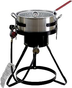 Chard 55,000 BTU 10 Qt Propane Outdoor Deep Fryer! Aluminum Fish Gas Cooker