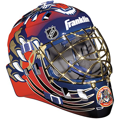 Panthers Multi Sport Helmet - Franklin Sports NHL League Logo Florida Panthers Mini Goalie Mask